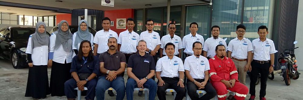 The staff at the Malaysian underwater welding school